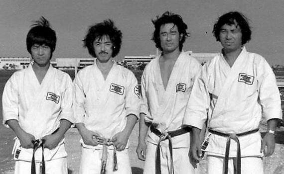 Karate Masters Minoru Horie, Toyotaro Miyazaki, Masakazu Takahashi, Koji Sugimoto